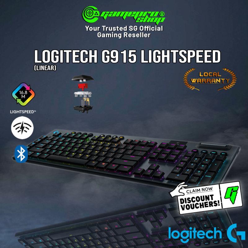 Logitech G915 Lightspeed Wireless (Clicky / Tactile / Linear)  RGB Mechanical Gaming Keyboard Singapore