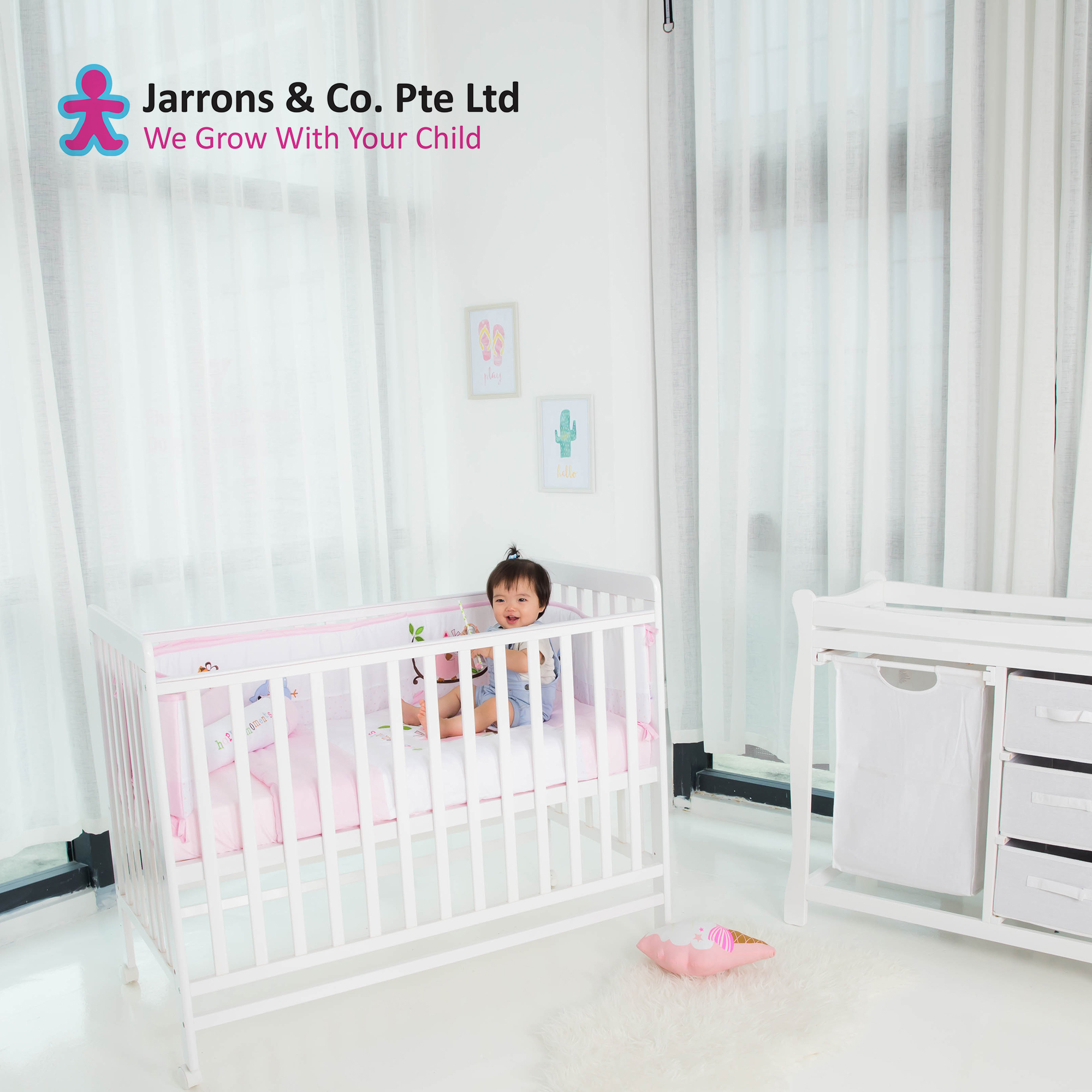 [jarrons & Co] Happy Wonder+ 5-In-1 Convertible Baby Cot (free Delivery & Installation) Upgrades Available.