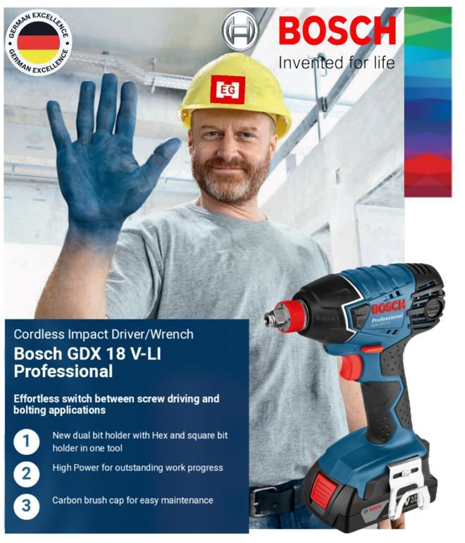 Bosch GDX 18 V-Li Bare