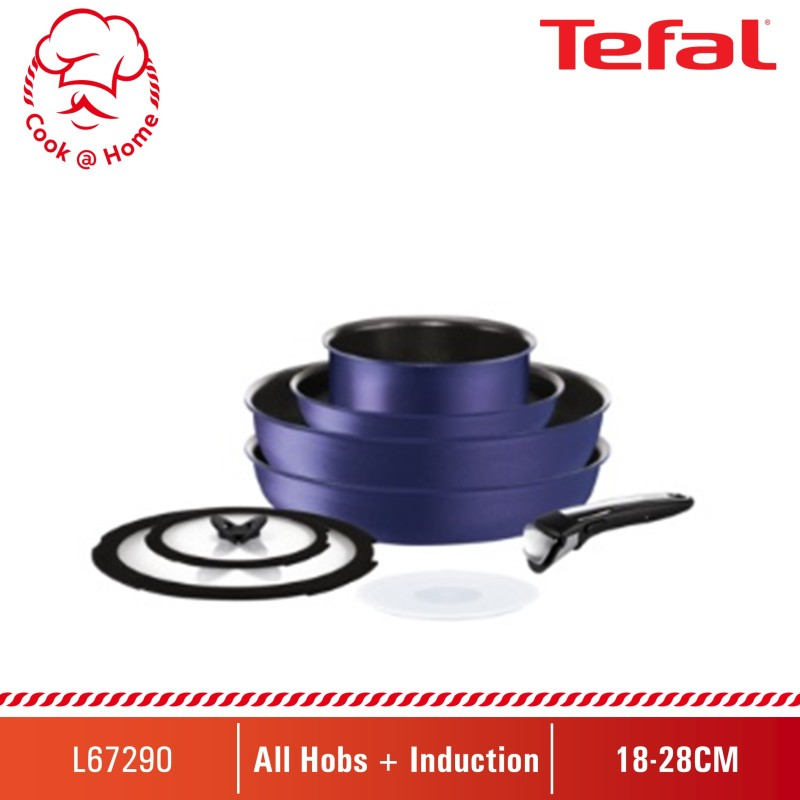Tefal Ingenio Expertise Blue 8pc Set (IH) L67290 Singapore
