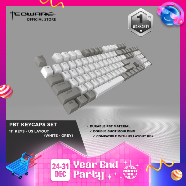 Tecware PBT Keycap Set Backlit Shine through Keycap sets (111 keys) [4 Color Options]