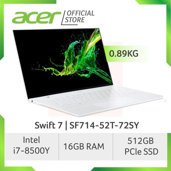 [READY STOCKS] Acer Swift 7 SF714-52T-72SY White Light Weight Touch Screen Laptop at 0.89 KG with Intel Core i7-8500Y processor