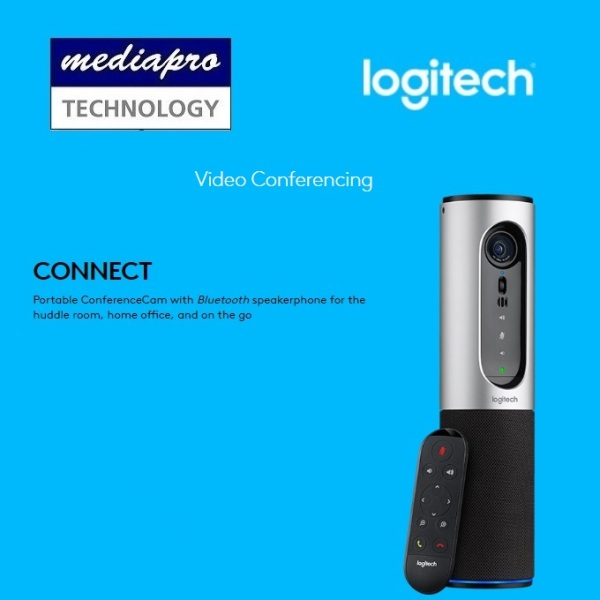 LOGITECH Connect Portable ConferenceCam Connect with USB & Bluetooth Speakerphone, Omni Directional Mic for the huddle room, home office, and on the go - CONFERENCE CAM - 2 Years Local Distributor Warranty