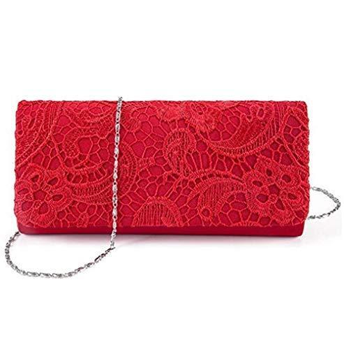 HOLOLA Womens Elegant Casual Retro Floral Lace Evening Bag Party Clutch Shoulder Bags Bridal Wedding Purse Handbag #608