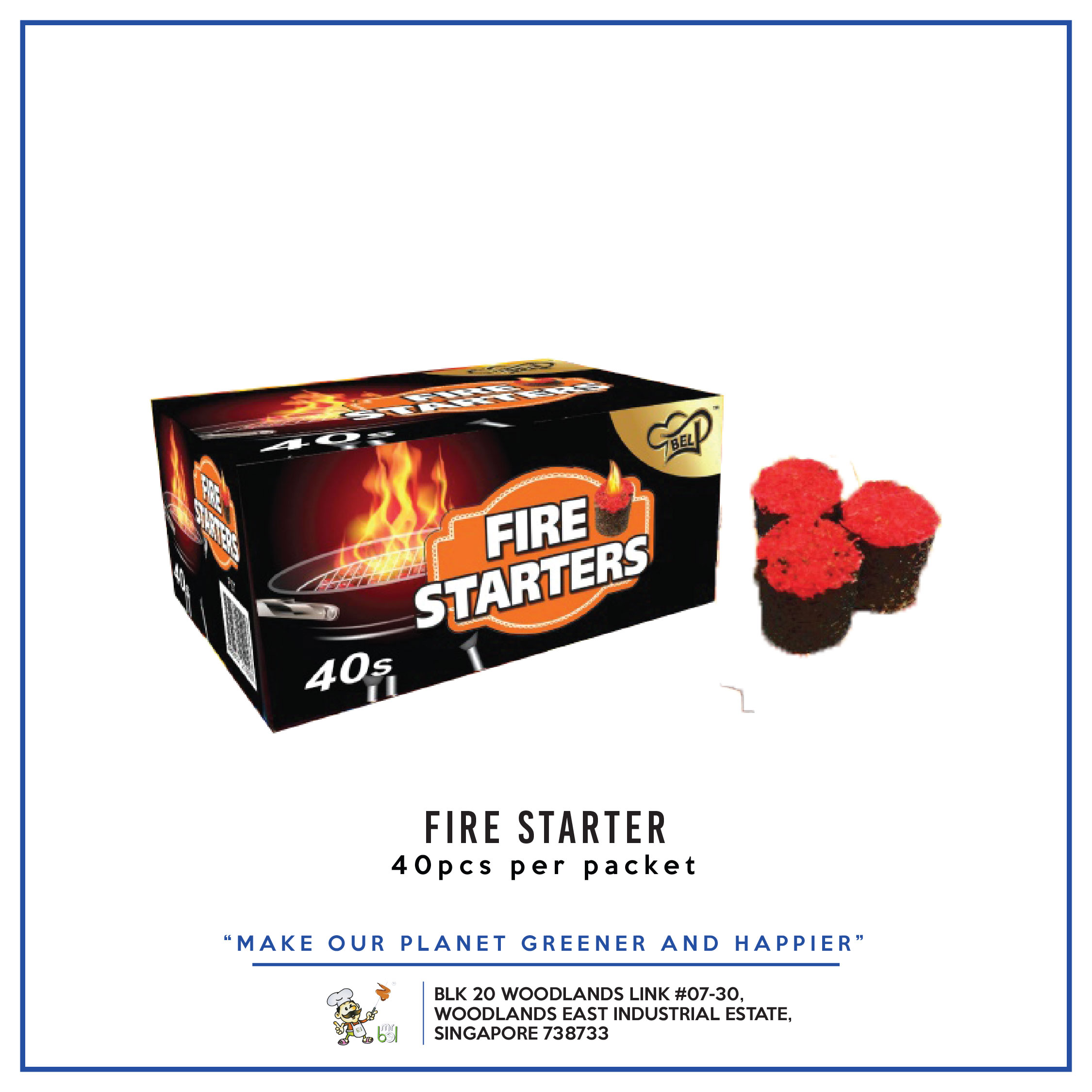Bel Fire Starter 40s per pack - 1 Carton (36packs)