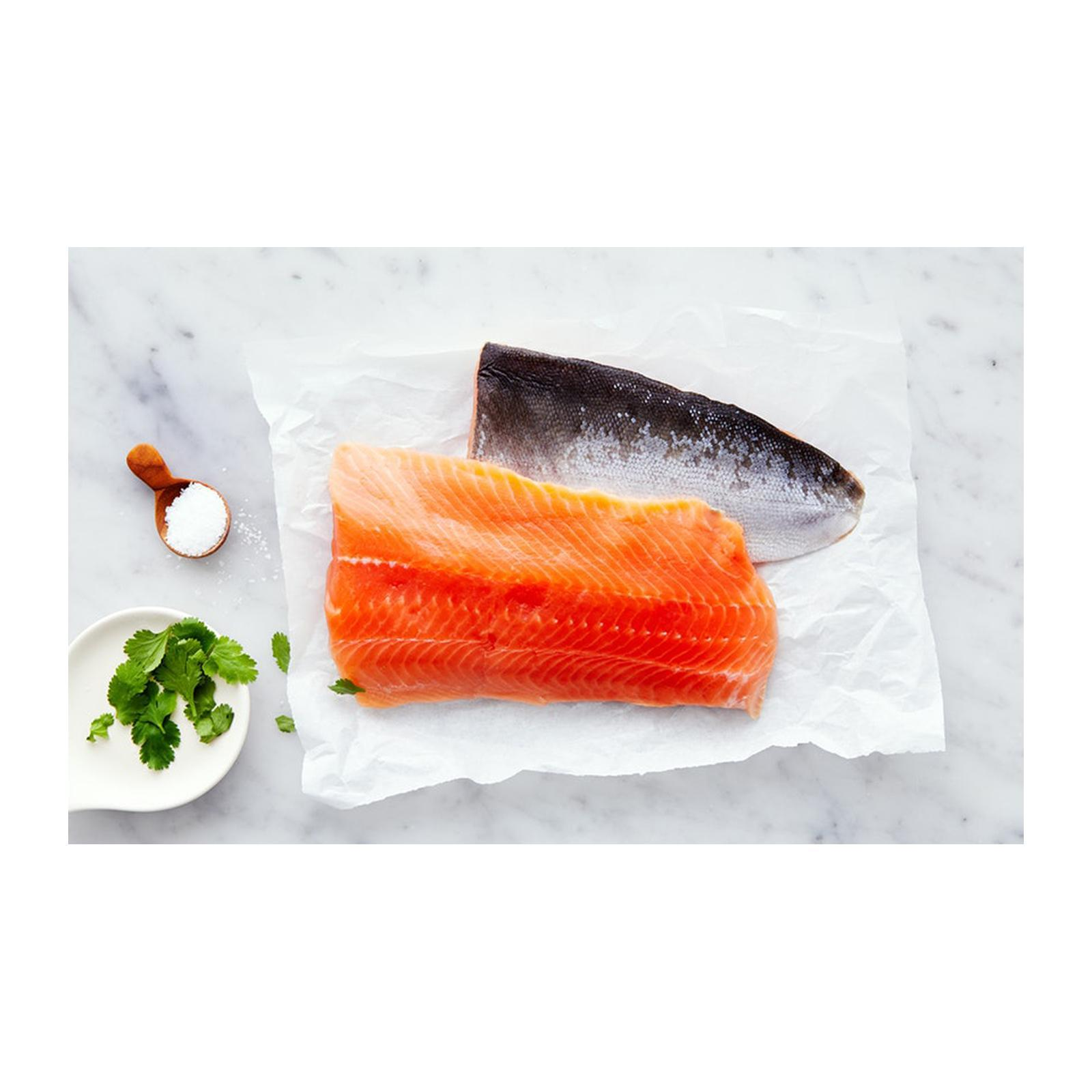 Catch Seafood Alaskan Wild Caught Salmon Skin On - Frozen