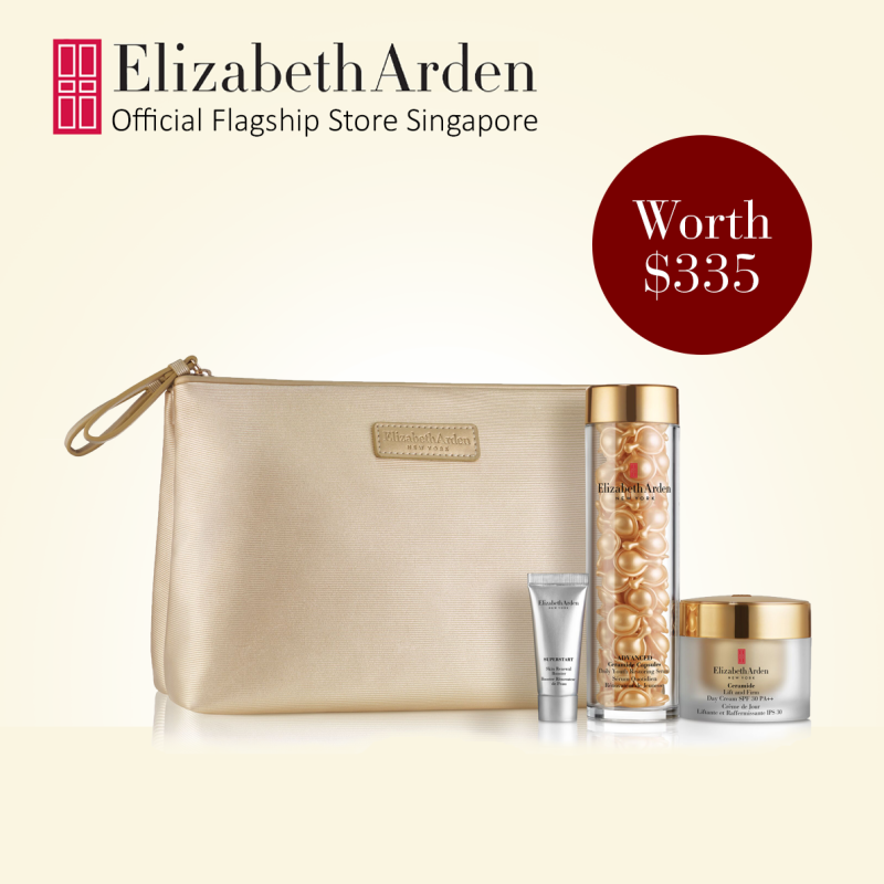Buy Elizabeth Arden Ceramide Lift and Firm 3pc Gift Set for Youthful Looking Skin: Advanced Ceramide 90 capsules, Ceramide Lift and Firm Cream Day Cream SPF30 50ml, Superstart Skin Renewal Booster 5ml Singapore