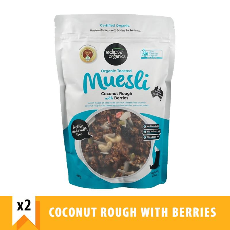 Eclipse Organics Toasted Muesli Coconut Rough With Berries (450g X 2) By Forever Young Sg.