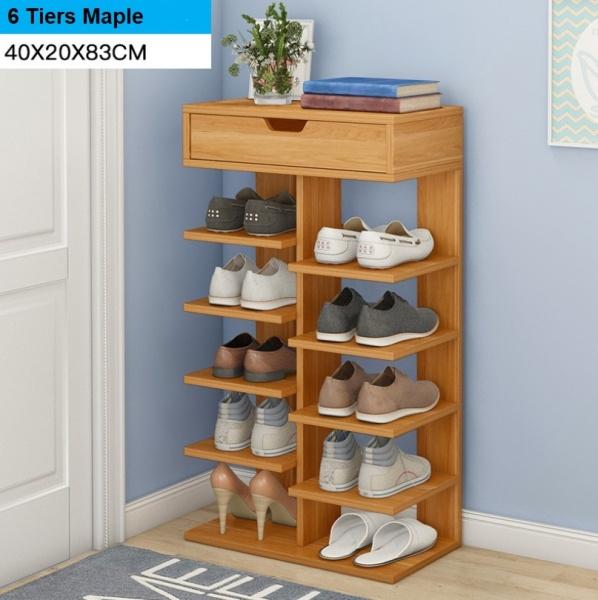 Wooden Shoe Rack Storage Shoes Organizer