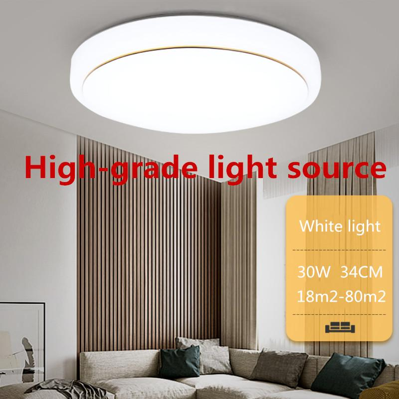 30W LED Round Ceiling Light Simple Ceiling Lamp Bedroom Aisle Lamp Balcony Kitchen Lighting Fixtures  (34*8CM)