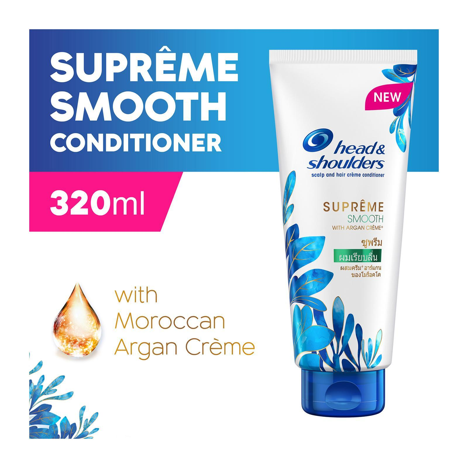 HEAD SHOULDERS supreme smooth scalp and hair crame conditioner 320ml