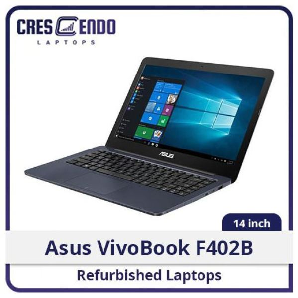 Asus VivoBook F402B 14in AMD A9-9400/4GB/128SSD/Webcam/Win10/1M Warranty