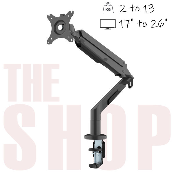 FlexiSpot Single Monitor Arm DLB851/MA8 Monitor sizes 17″-36″ with weight of 3-12kg