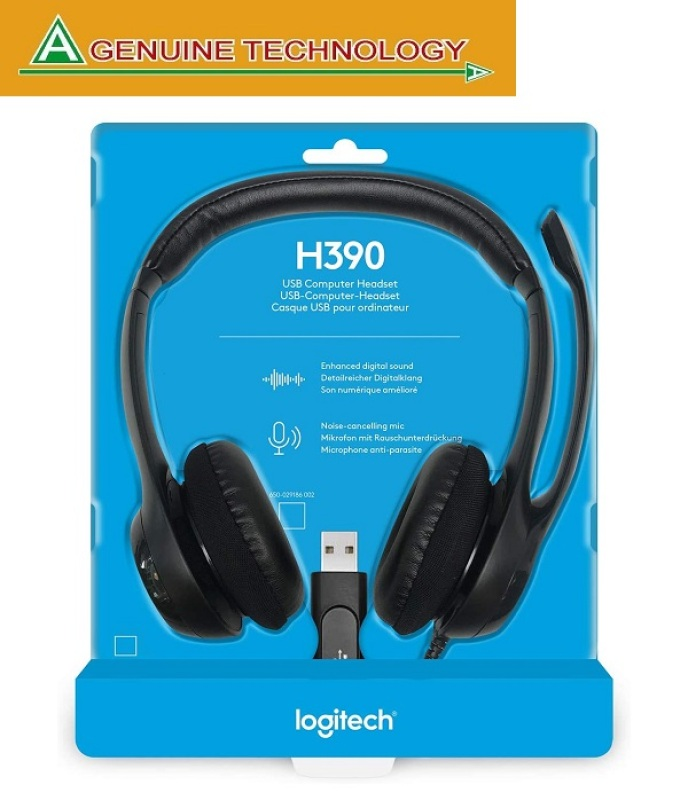 Logitech H390 USB Headset with Inline Audio Control (Work From Home, Home Based Learning, Audio Video Conferencing) Singapore