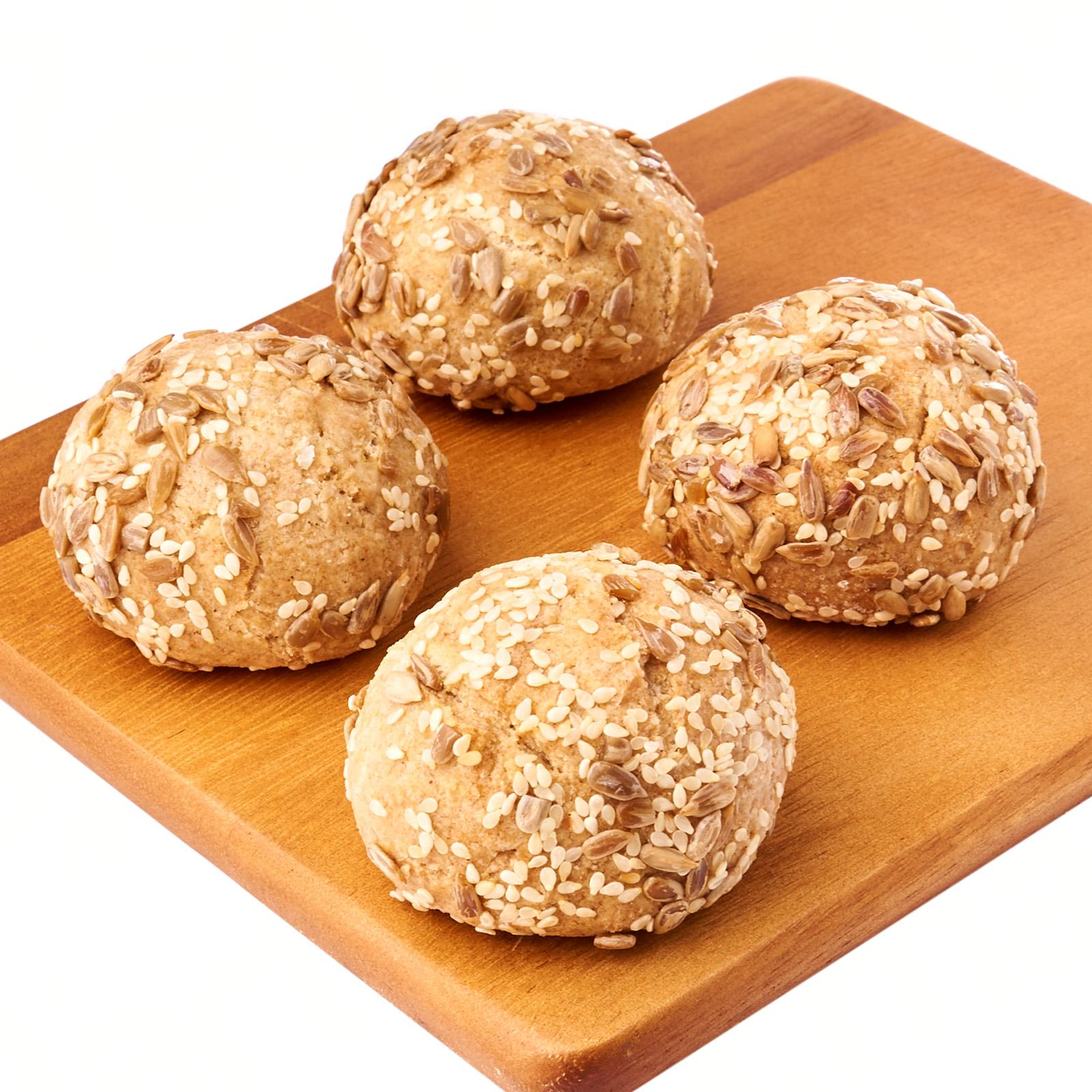 Delcie's Desserts and Cakes Keto Bread Roll - Sunflower seeds with Sesame (Vegan Gluten Free Diabetes Friendly Low Carb Keto Friendly) - Frozen
