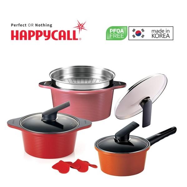 Happycall Alumite High Pure Ceramic 3-Pc Die Cast Pot & Steamer Set 3900-2260 Singapore