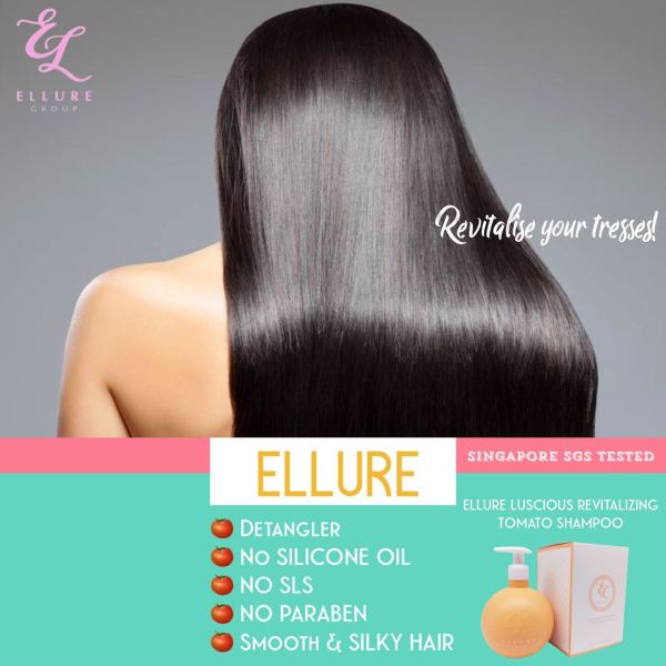 Buy NEW LAUNCH! ELLURE REVITALIZING TOMATO 🍅 SHAMPOO + HAIR CONDITIONER BUNDLE SET [🎁Free gift w purchase] Singapore