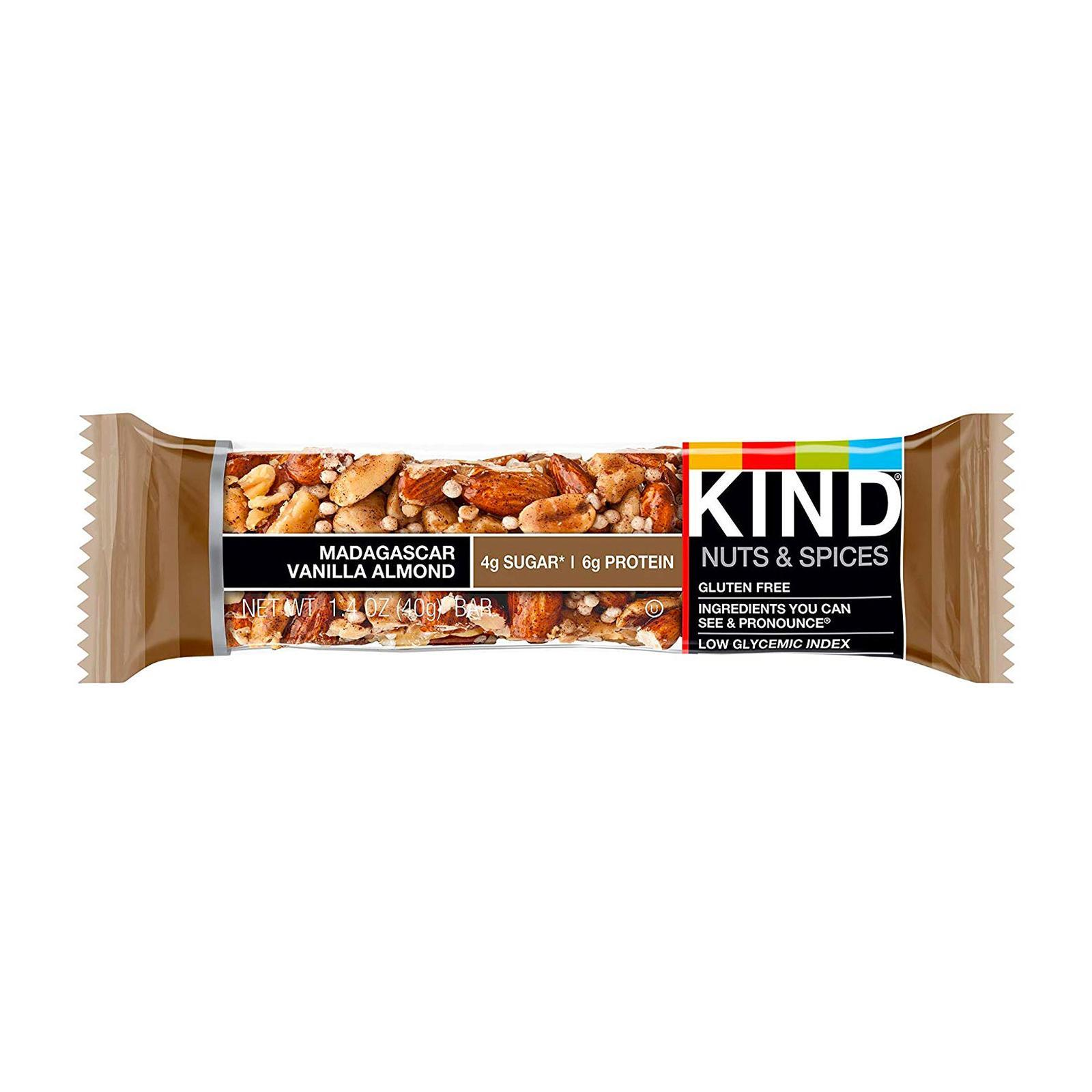 KIND Fruit and Nut Madagascan Vanilla Almond Bar - By Wholesome Harvest