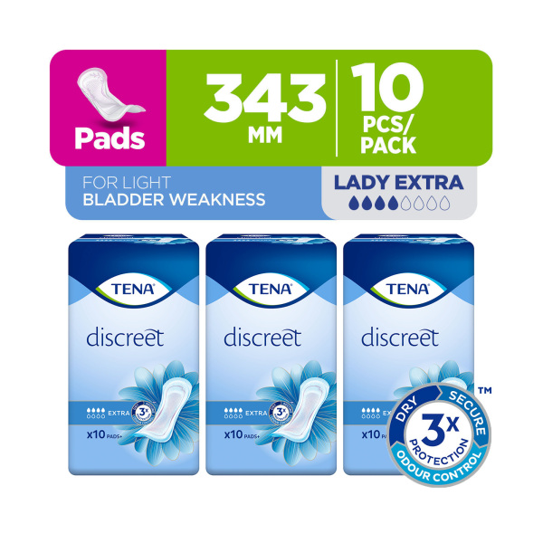 Buy TENA Official Store - TENA Lady Extra 10s (Bundle of 3) Singapore