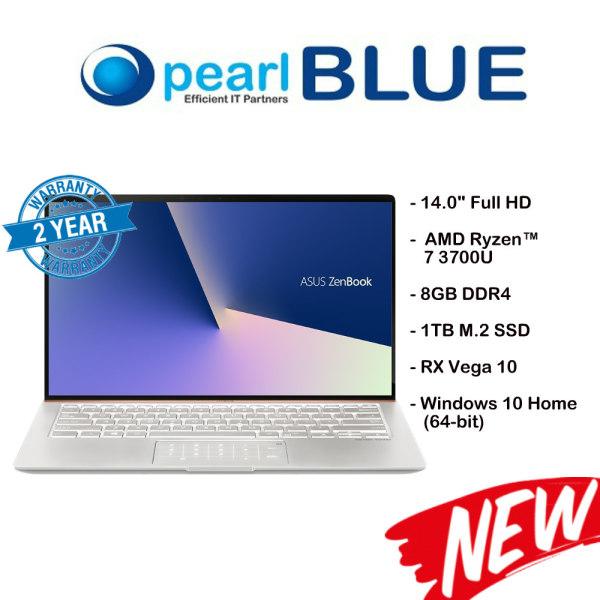 ASUS ZenBook 14 UM433DA-A5046T / 7 3700U / 8GB DDR4 / 1TB M.2 SSD / RX Vega 10 (Icicle Silver)