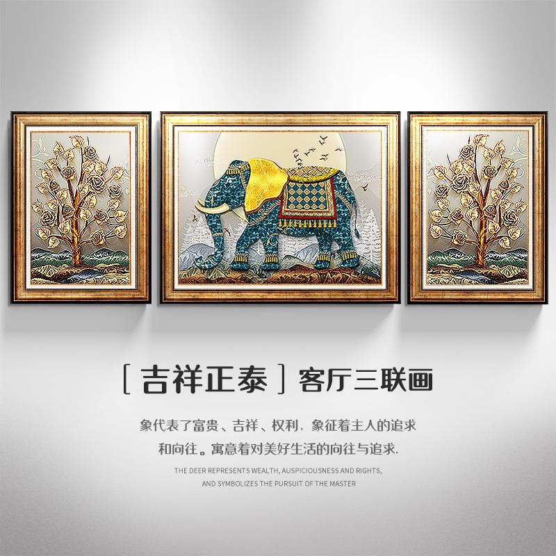 American Living Room Decorative Painting Sofa Wall Paintings Bedroom Wall Entrance Mural Vintage SHiNY Oil Painting Chinese Style