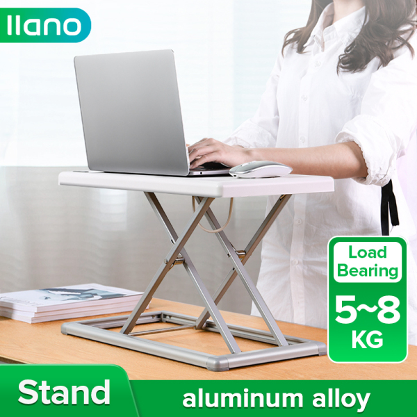 llano Aluminum Alloy 9 Gears Adjustable Laptop Lifting Stand Foldable Standing Desk
