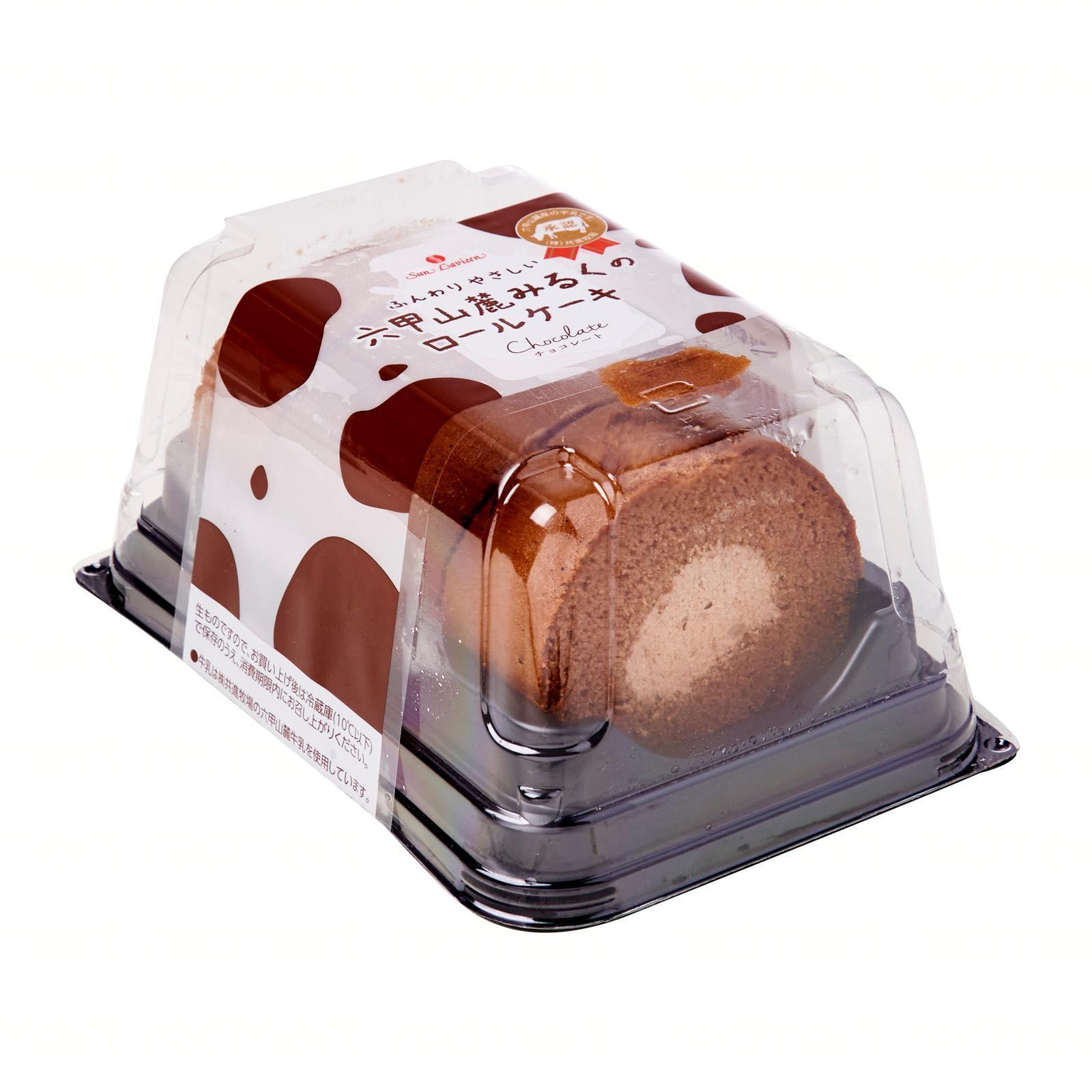 Sunlavieen Rokko Sanroku Milk Chocolate Roll Cake - Frozen - Jetro Special