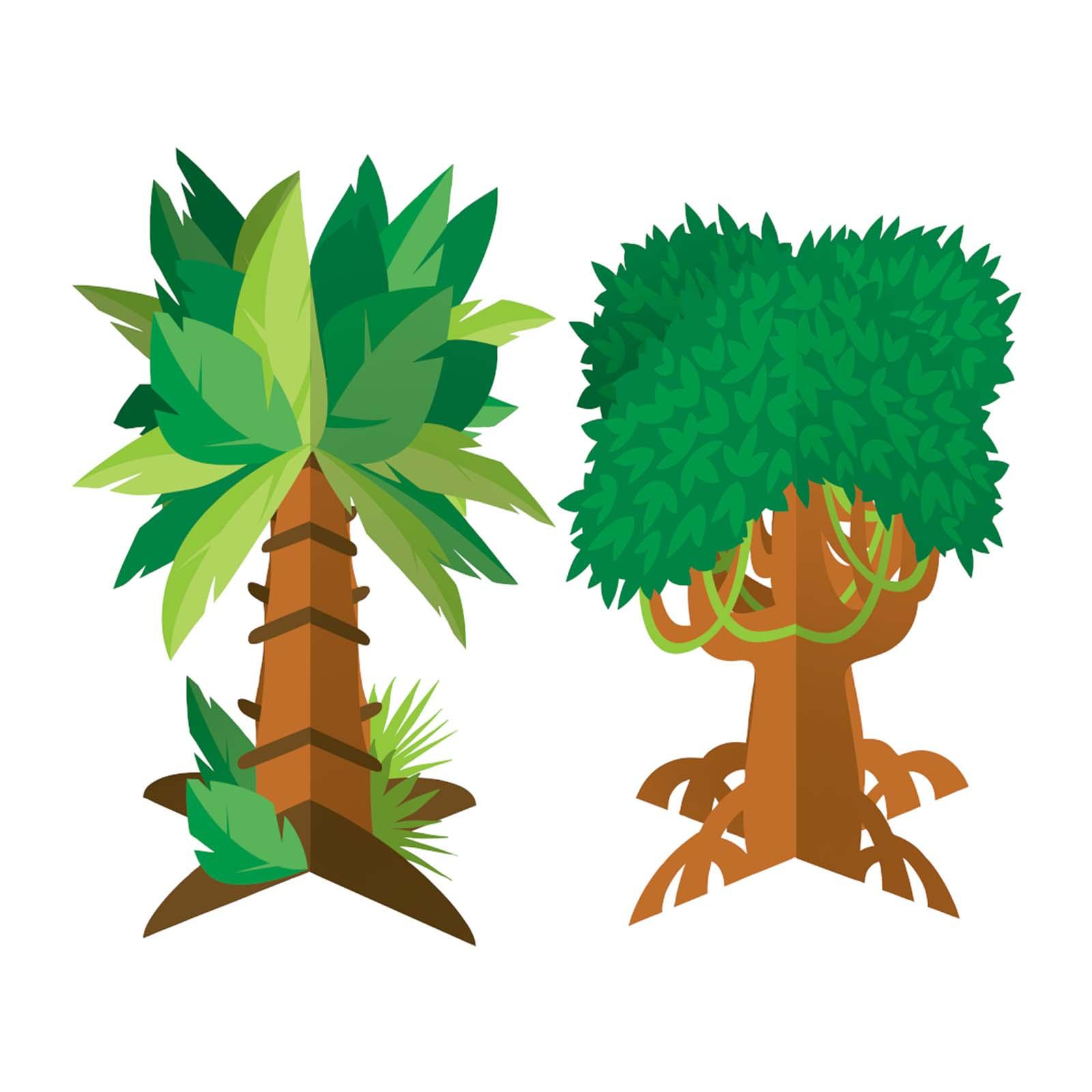 Creative Converting Jungle Tree 3D Centerpiece 2PCS/Pack