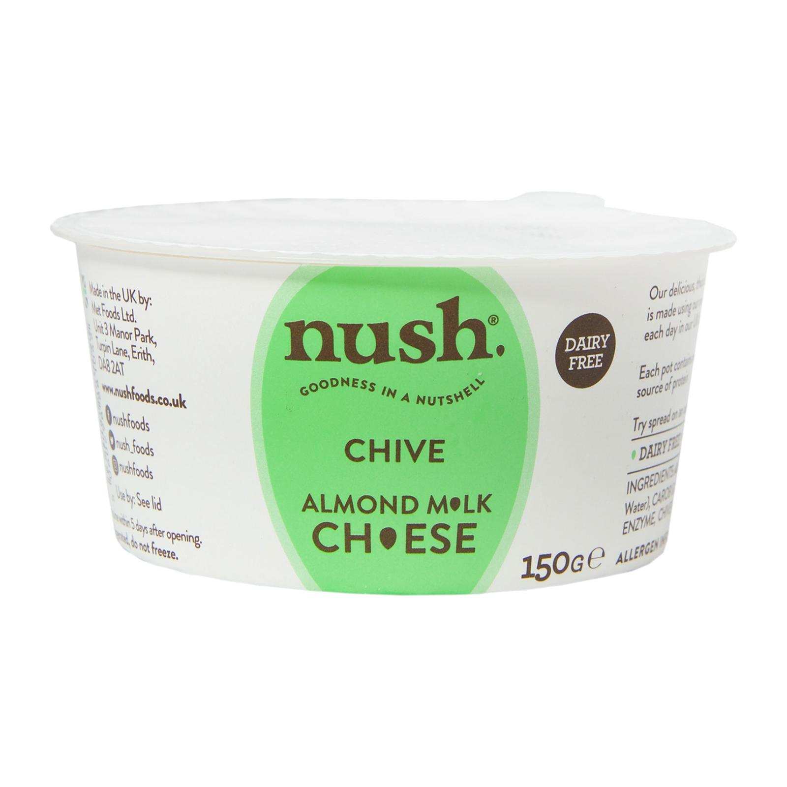 Nush Vegan Almond Cheese Style Dairy Free Spread Chive