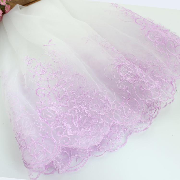 Đẹp Vải Organza Nghề Thêu Ren Rộng Trang Phục Nguyên Liệu Phụ Chất Vải Tự Làm Thủ Công Váy Cưới Váy Mũ Vải Ren