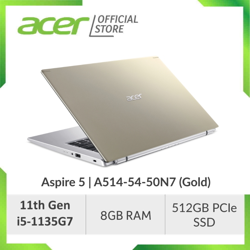 Acer Aspire 5 A514-54 (Blue/Pink/Gold/Silver) - 14 FHD IPS Laptop with Latest 11th Gen i5-1135G7 Processor
