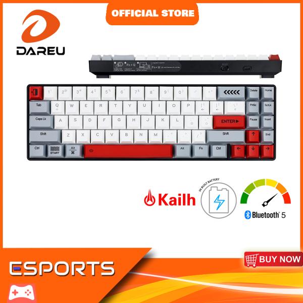 Dareu EK871 71-Key 65% Mechanical Keyboard PBT Keycaps Wireless Compact Bluetooth Keyboard for Windows/Mac/Android