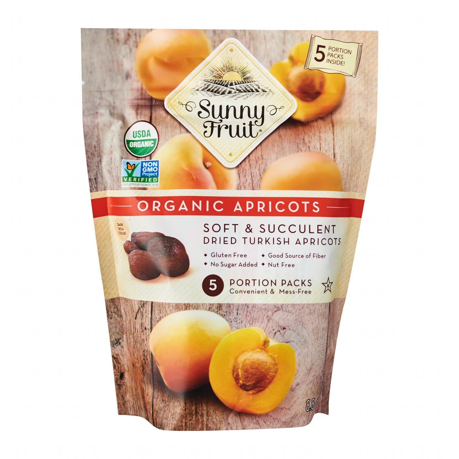 Sunny Fruit Organic Apricots (5 Packs) - By Wholesome Harvest