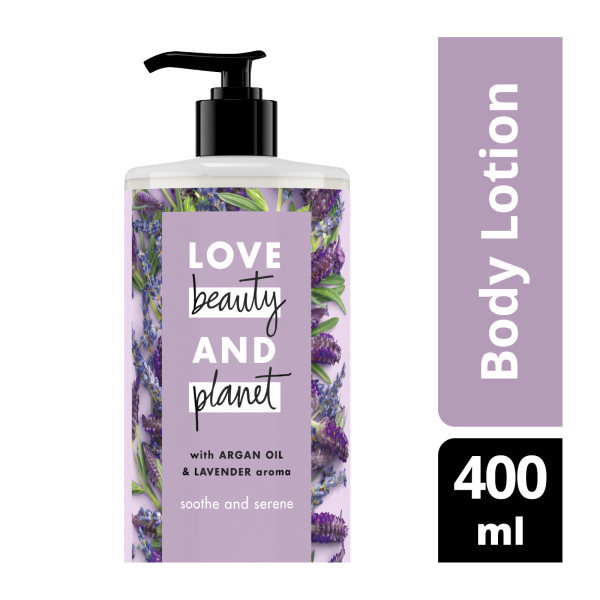Buy Love Beauty And Planet Argan Oil & Lavender Soothe and Serene Body Lotion 400ml Singapore
