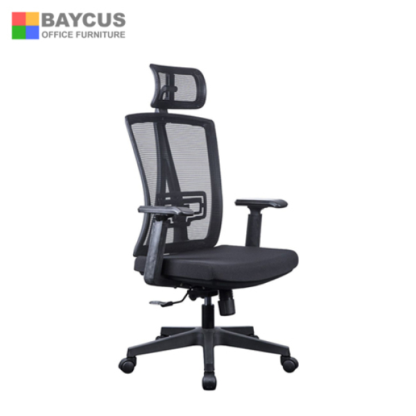 Ergonomic Mesh Office Chair  Model: OPAL  Office Mesh Chair  Net Office Chair with Adjustable Headrest, Lumbar support and Armrest  Office Chair able to recline Singapore