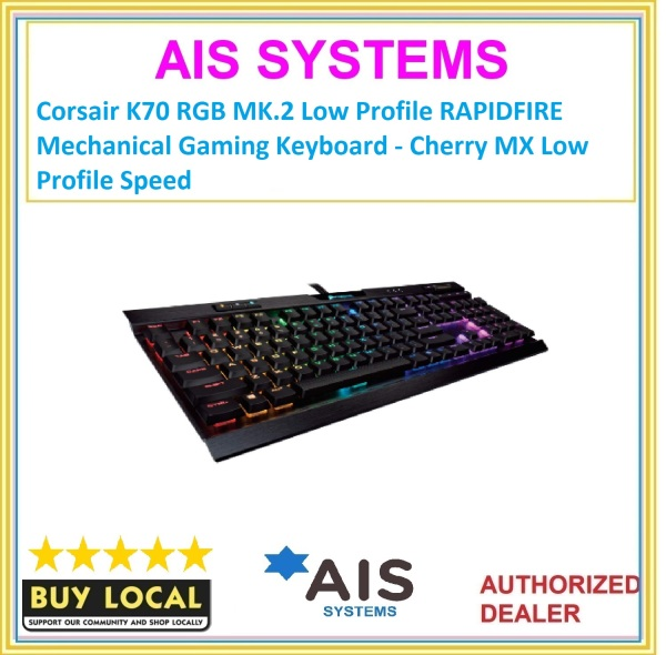 Corsair K70 RGB MK.2 Low Profile RAPIDFIRE Mechanical Gaming Keyboard - Cherry MX Low Profile Speed Singapore