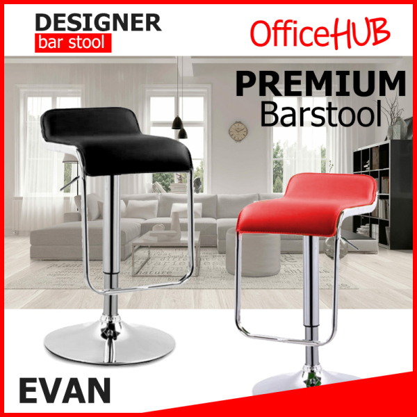 OFFICEHUB EVAN Bar Stools | Chairs ★ SGS Hydraulic Pump ★ Home barstool / Cafe barstool / Office barstool / Pub barstool ★ Adjustable Height BarStool ★ High Stool ★ Sg Seller