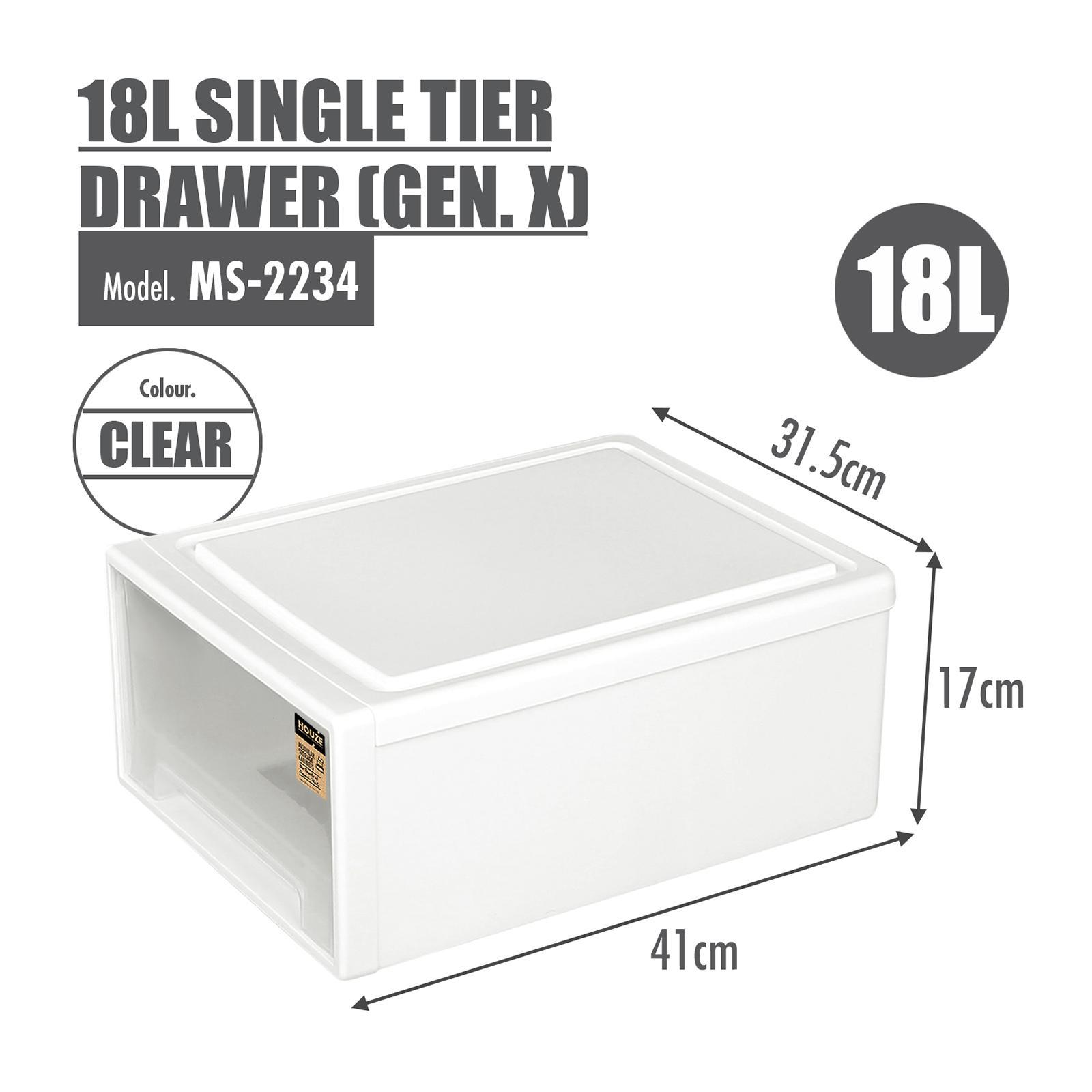 HOUZE 18L Single Tier Drawer