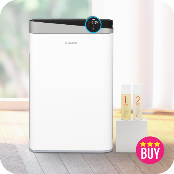 novita 4-In-1 Air Purifier A4S with 2 bottles of Air Purifying Solution Concentrate Singapore