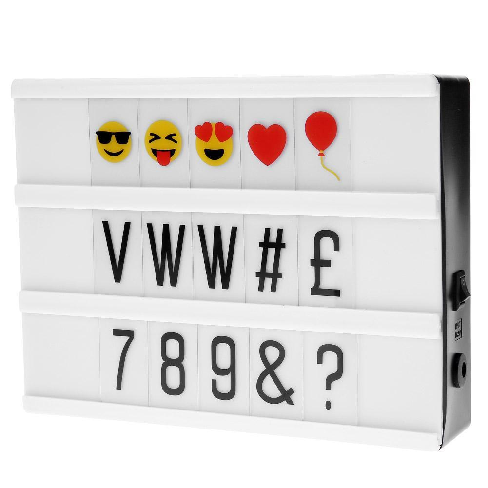 A5 LED USB Magnetic Light Box DIY Letters Number Combination Night Lamp Set - intl