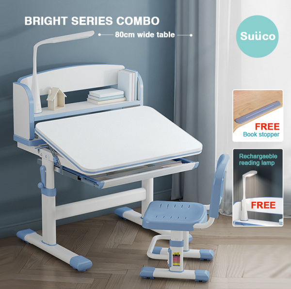 Suuco Bright Series Combo | Height Adjustable Study Table and Chair for Kids | Study Table and Chair for Children