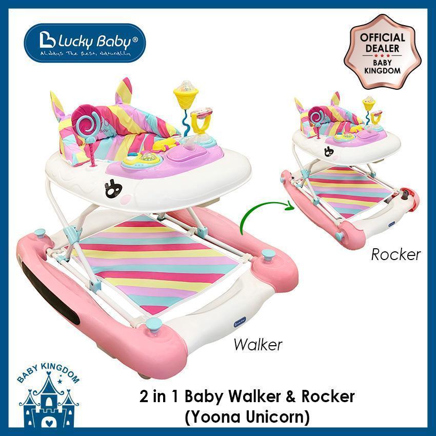Lucky Baby Yoona Unicorn 2 In 1 Baby Walker N Rocker