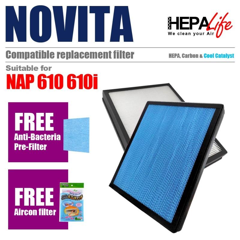 NOVITA NAP610 NAP610i Compatible Hepa Filter - Hepalife Singapore