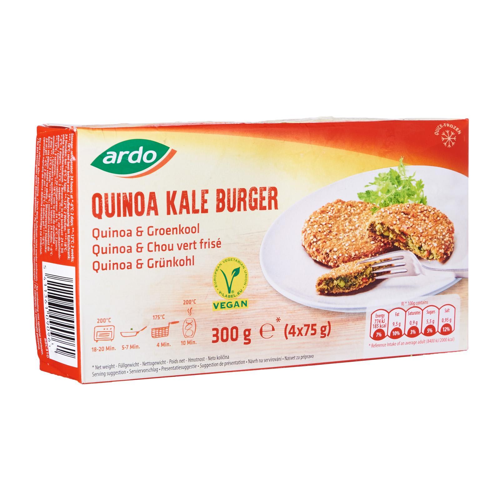 ARDO Quinoa Kale 4 Burgers - Frozen