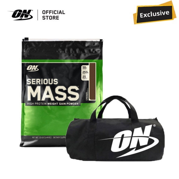 Buy [Lazada Exclusive] Optimum Nutrition Serious Mass 12 lbs Bundle - Chocolate Singapore