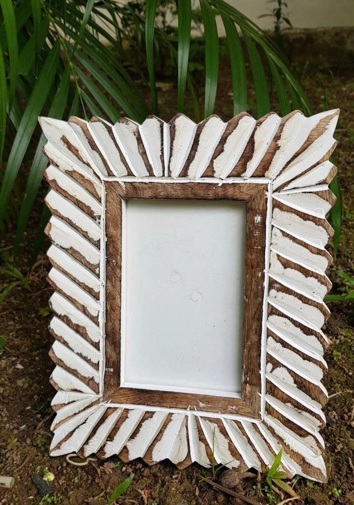 Evie Hand Carved Photo Frame