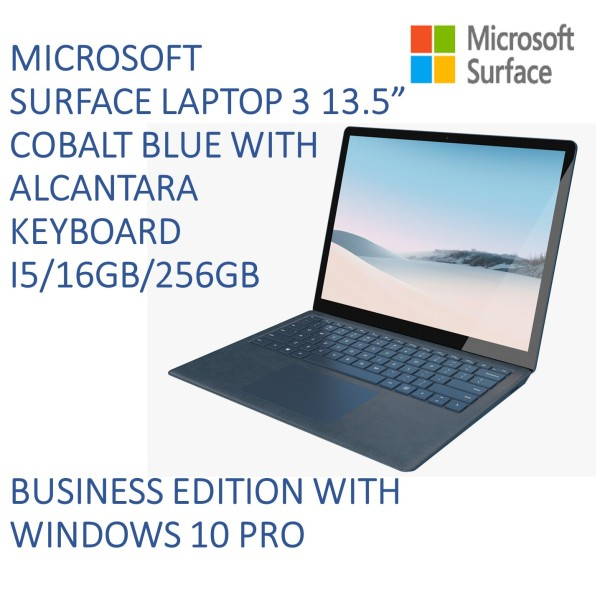 [LAPTOP SALE] Latest MICROSOFT SURFACE LAPTOP 3 13.5 i5 16gb RAM 256gb SSD (BUSINESS EDITION WITH WINDOWS 10 PRO) in Cobalt Blue [ALL MS SURFACE]