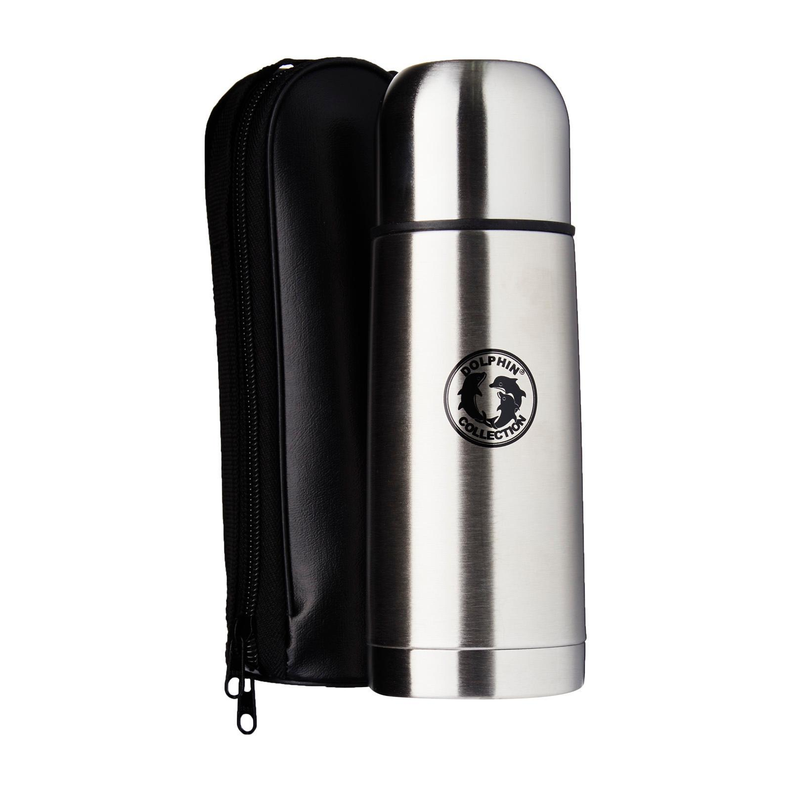 Dolphin Collection Stainless Steel Vacuum Flask With Bag 350Ml