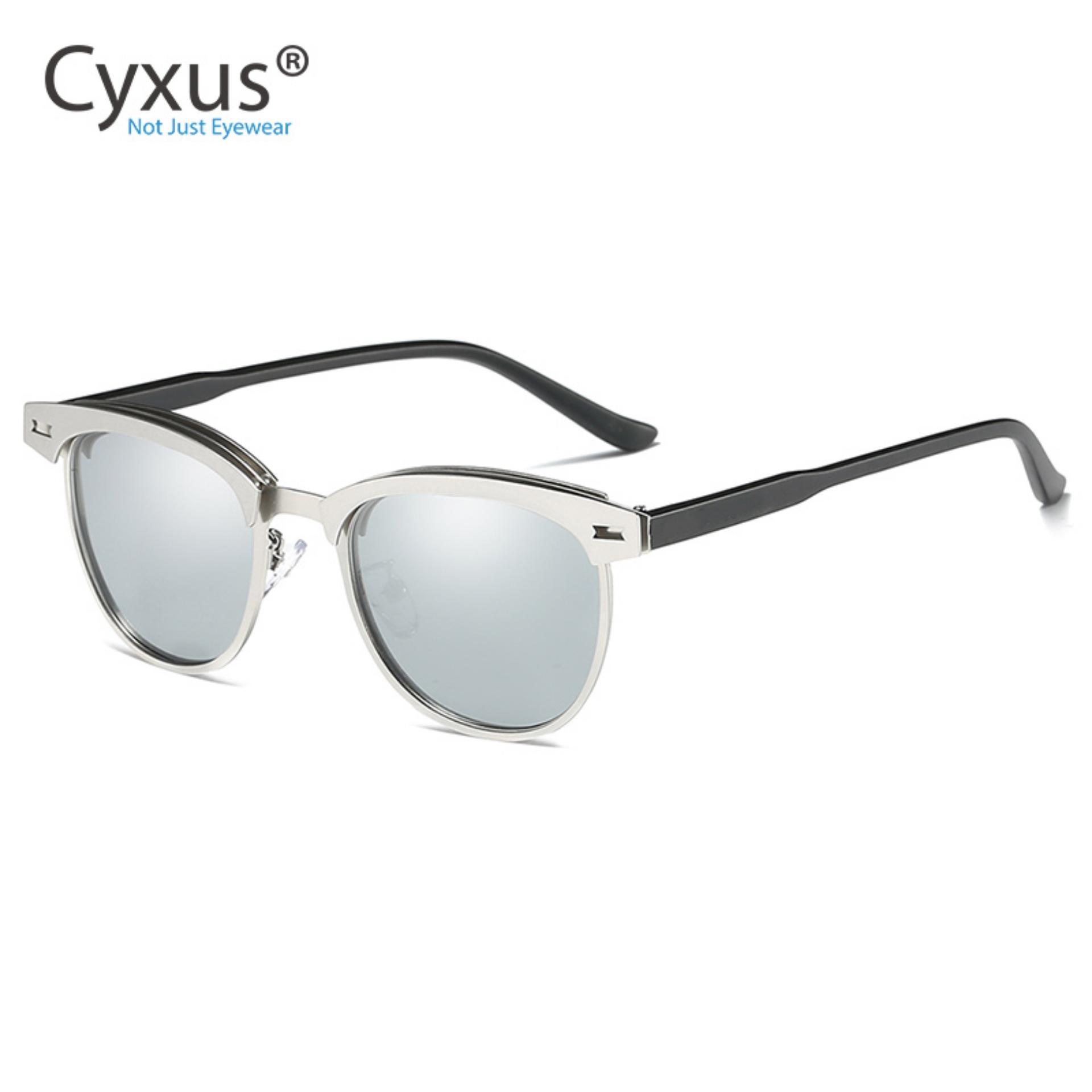 772b77712f52 Cyxus Fashion Polarized Sunglasses women men Half-Rim Retro Sun Glasses