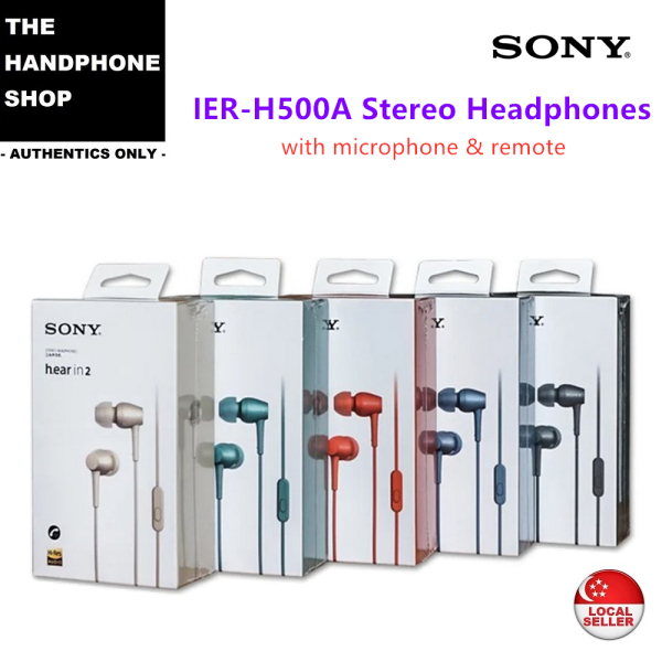 SONY IER-H500A H.EAR IN 2 IN-EAR STEREO HEADPHONES WITH MIC & REMOTE Singapore